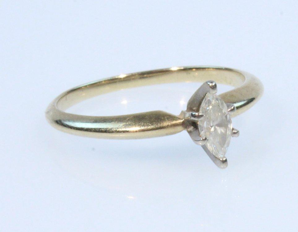Precious Gemstone 14K DIAMOND RING Vintage Yellow Gold
