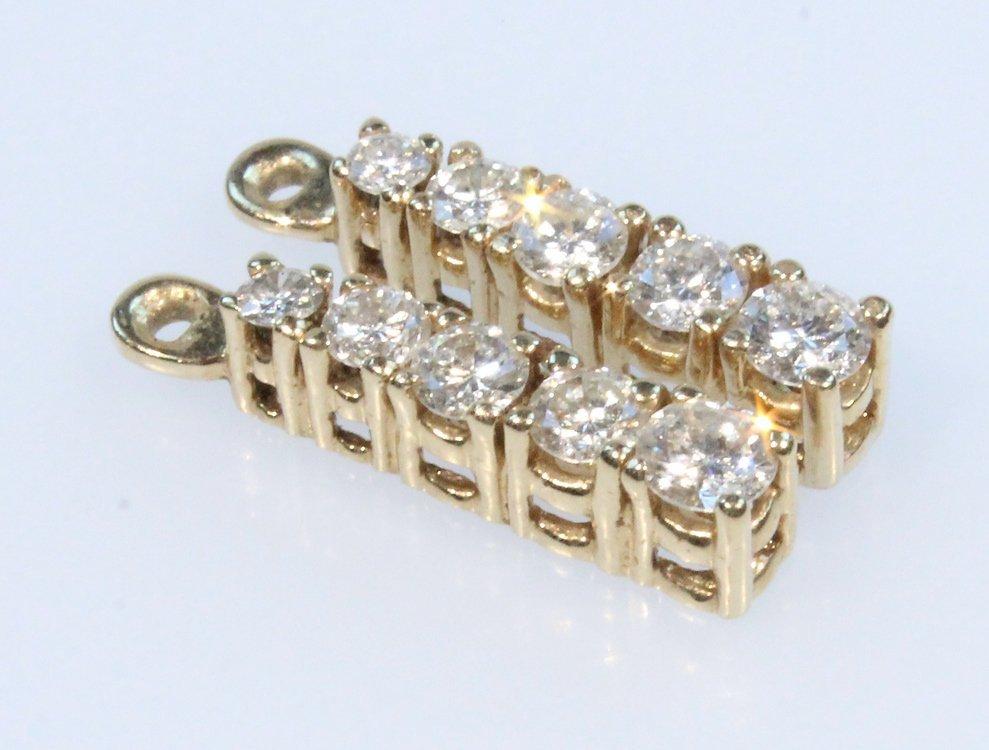 Precious Gemstones 14K DIAMOND DROP JACKETS Vintage