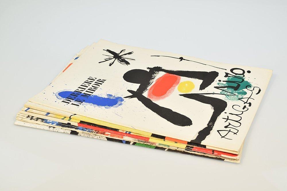 10Pcs Joan Miro VINTAGE COLOR STONE LITHOGRAPHS