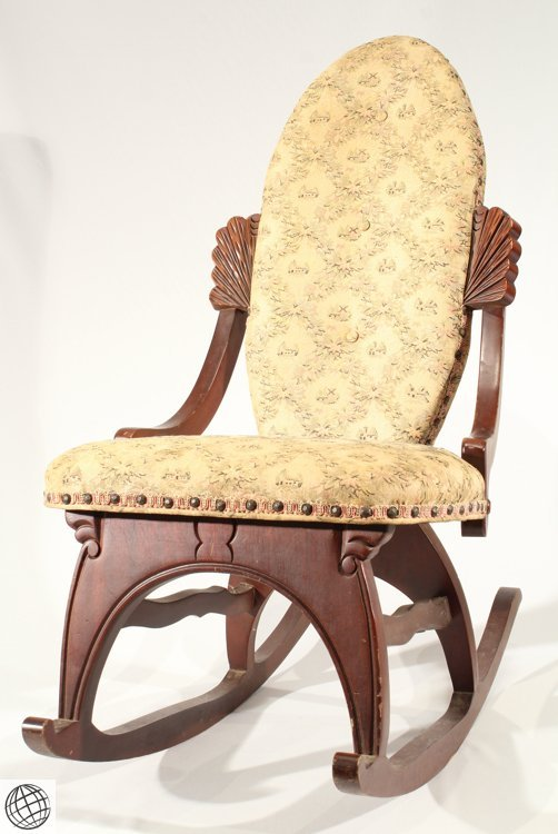 Magnificent Antique Furniture Victorian Walnut Sewing Rocker Beatyapartments Chair Design Images Beatyapartmentscom