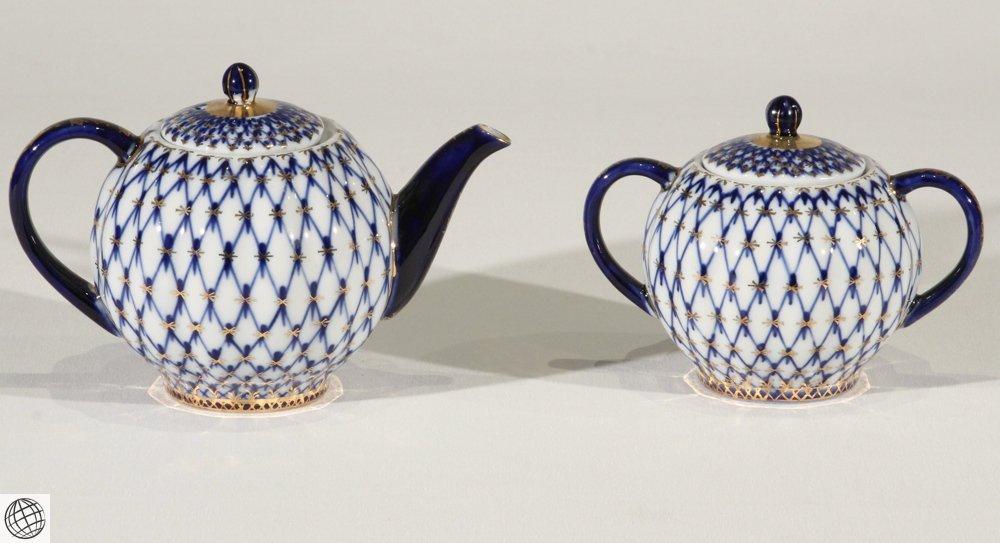 27Pcs Teapot VINTAGE RUSSIAN PORCELAIN DESSERT SET - 4