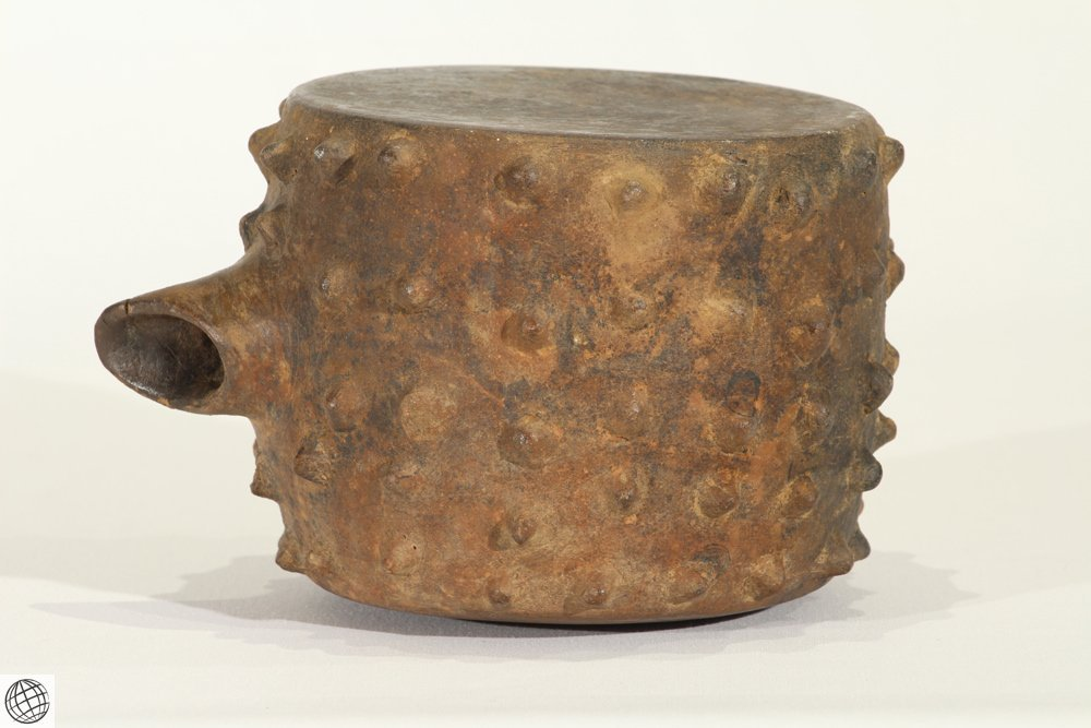 Antique Pottery PRE-COLUMBIAN SPIKED VESSEL Canteen