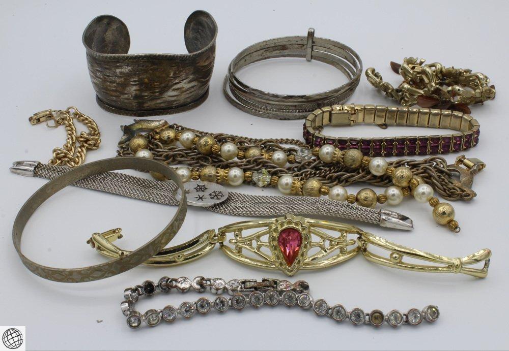 10Pcs Costume Jewelry VINTAGE BRACELETS Cuff Link