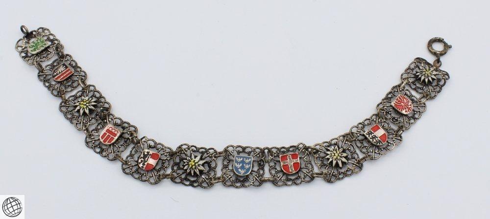 10Pcs Abalone LADIES' VINTAGE COSTUME BRACELETS Chain - 7