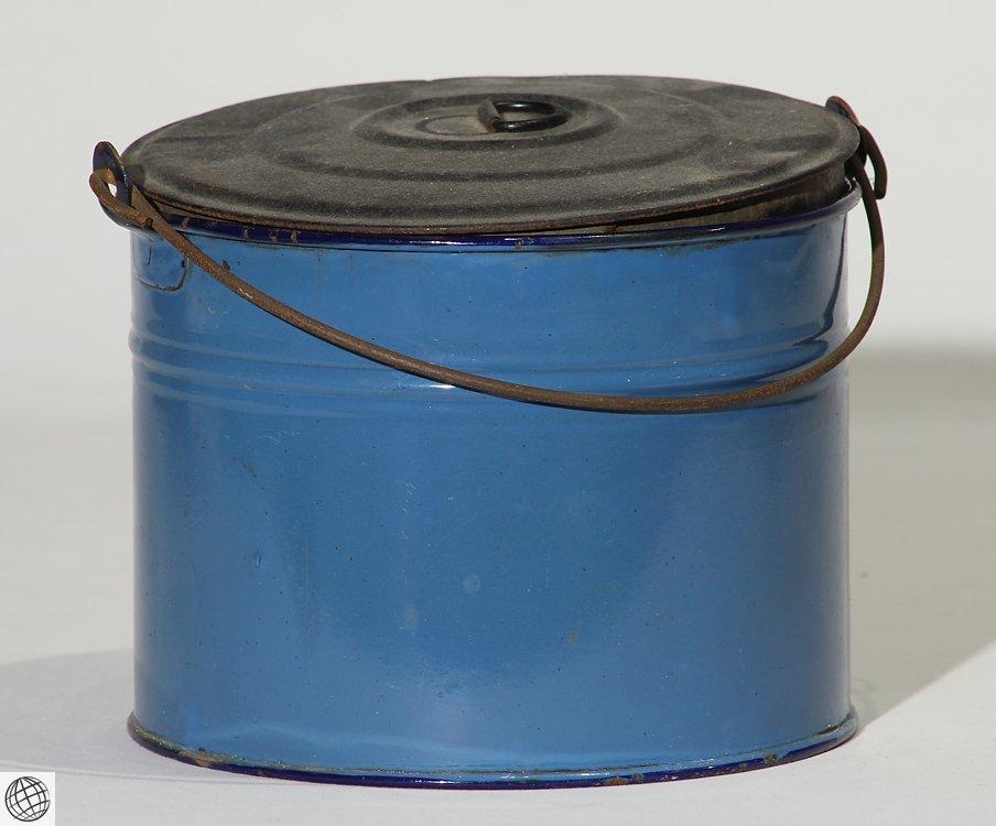 8Pcs Spatterware VINTAGE GRANITEWARE Enamelware Blue - 10