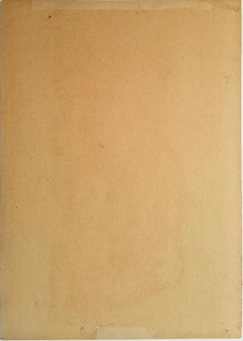 Gustav Klim gouache on paper signed painting - 2