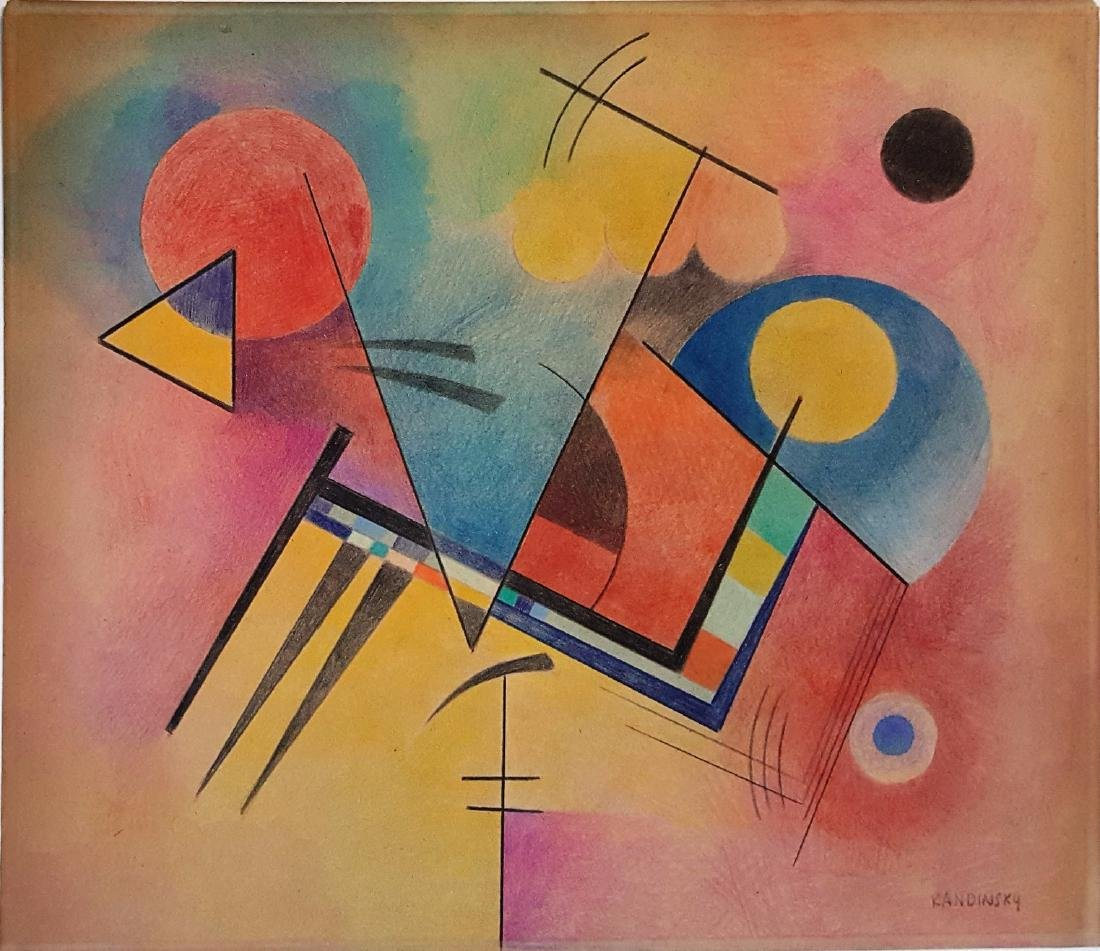Wassily Kandinsky color pencil on paper