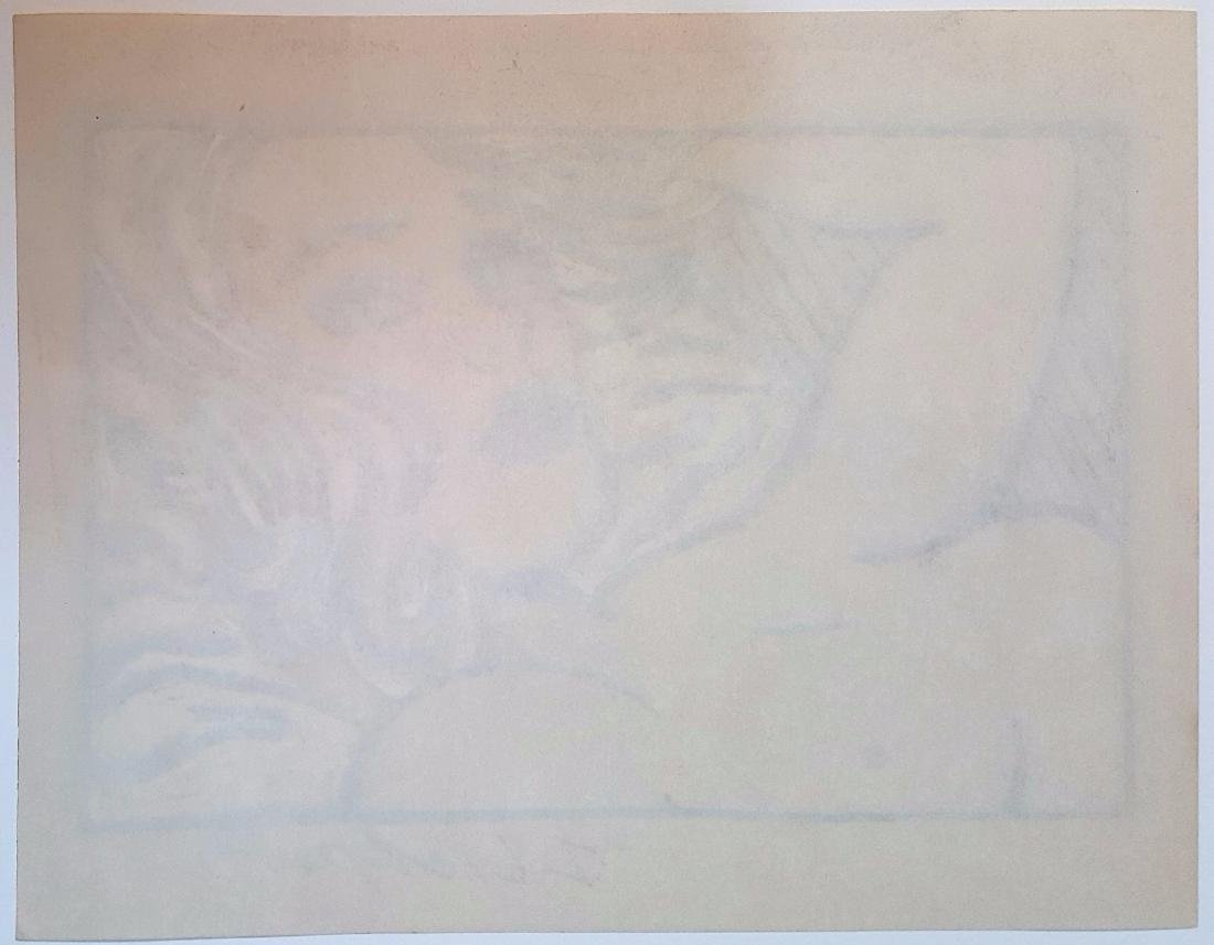 Roy Lichtenstein gouache on paper signed painting - 3