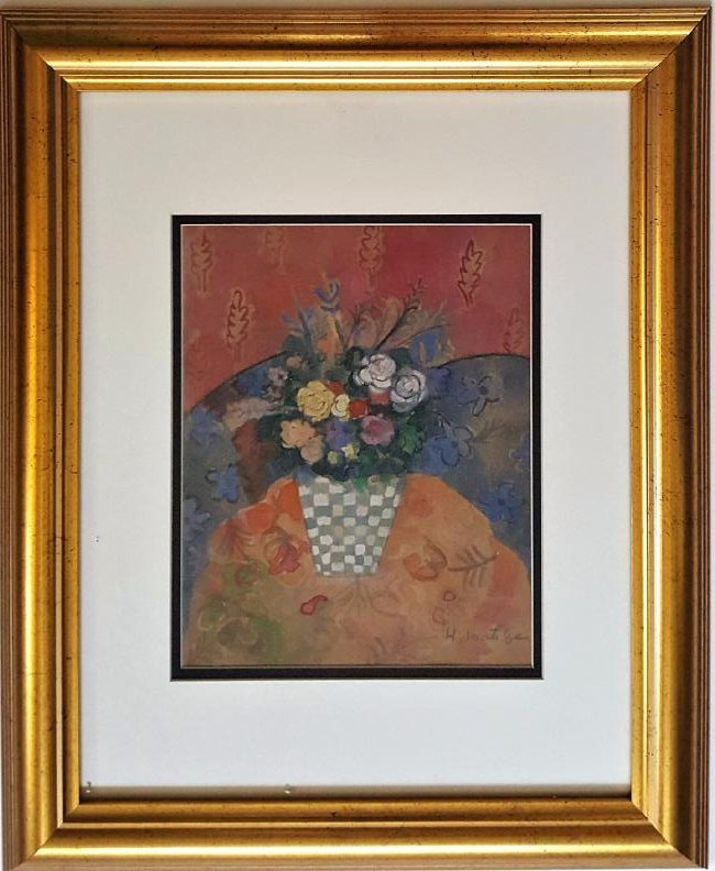 Henri MATISSE gouache on paper  signed painting