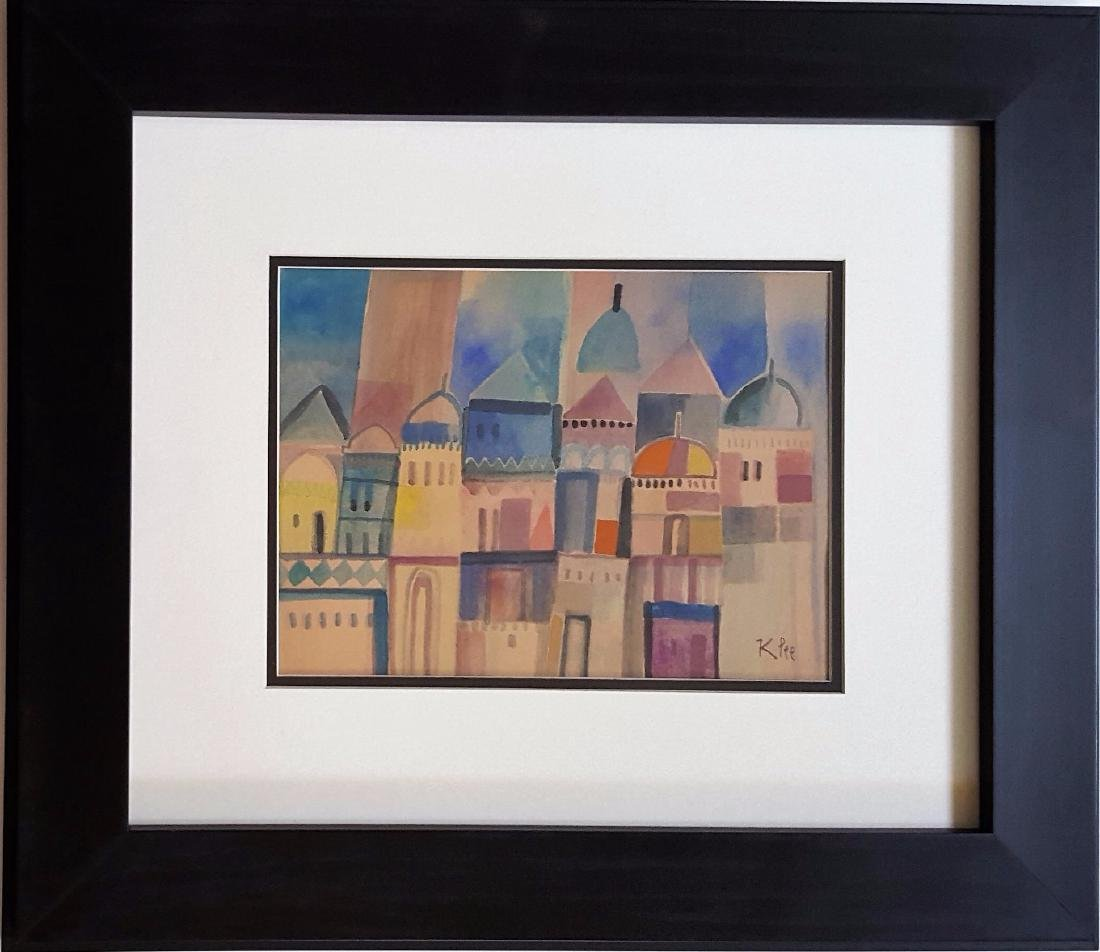 Paul KLEE watercolor on paper signed painting.