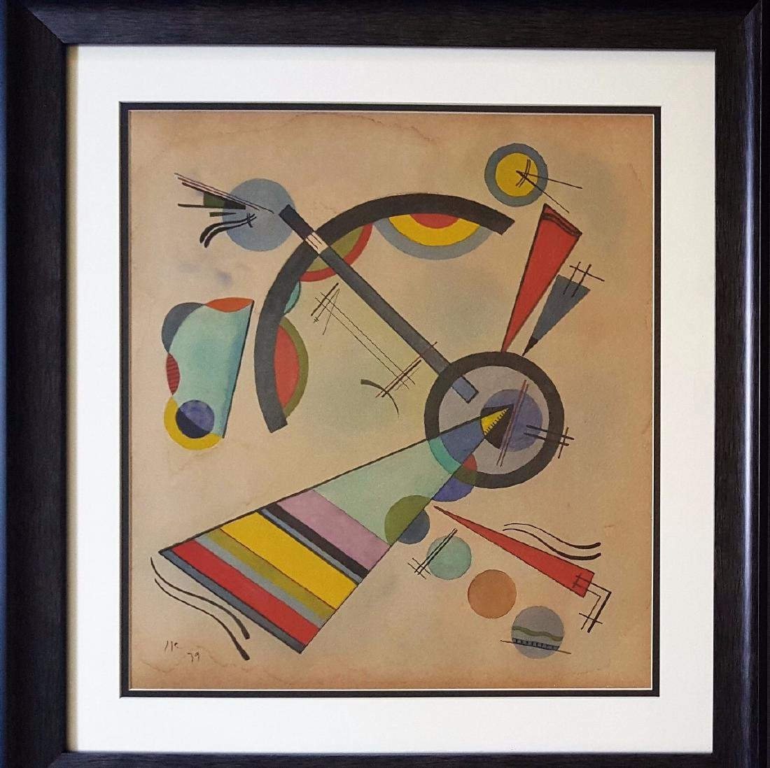 Wassily KANDINSKY watercolor on paper signed painting