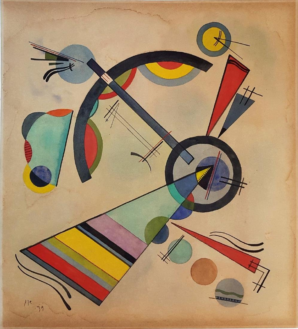 Wassily KANDINSKY watercolor on paper signed painting - 2