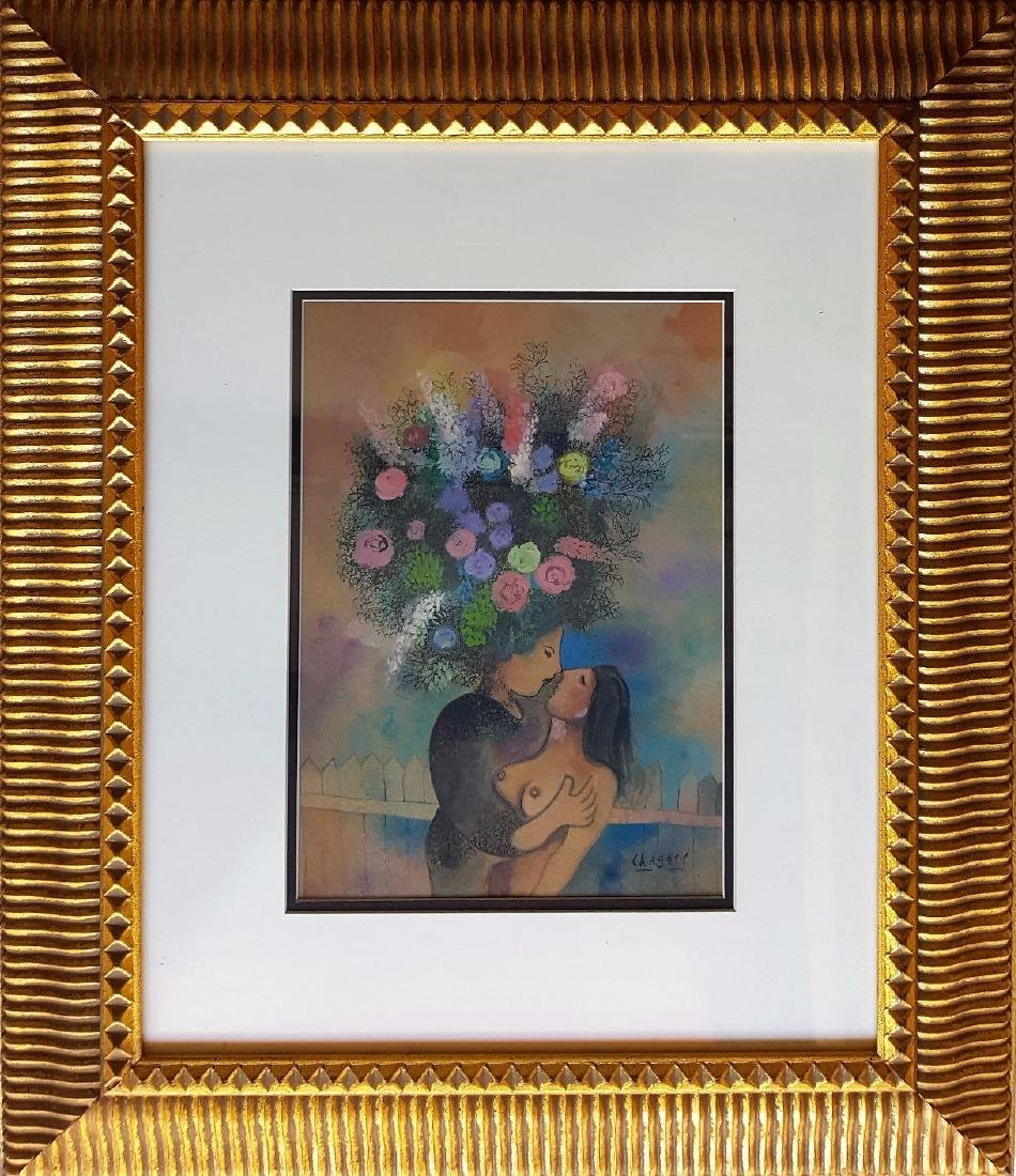 Marc CHAGALL gouache on paper signed painting