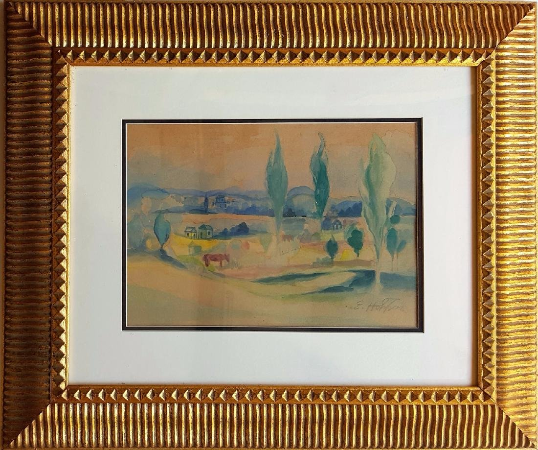 Edward HOPPER watercolor on paper signed painting