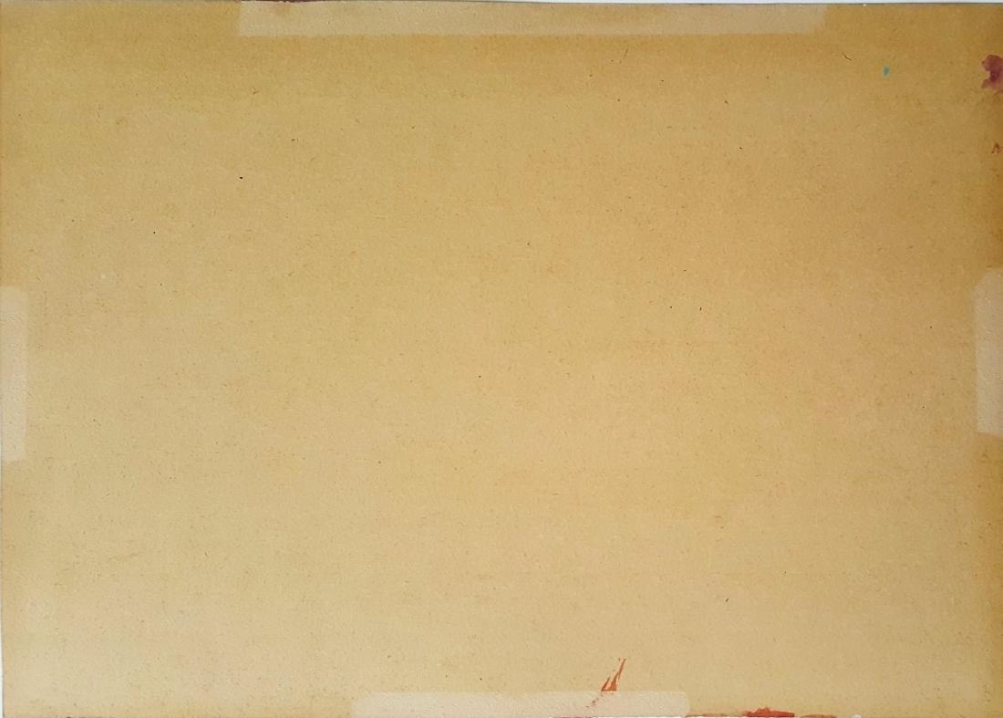 Jasper JOHNS gouache on paper signed painting - 3
