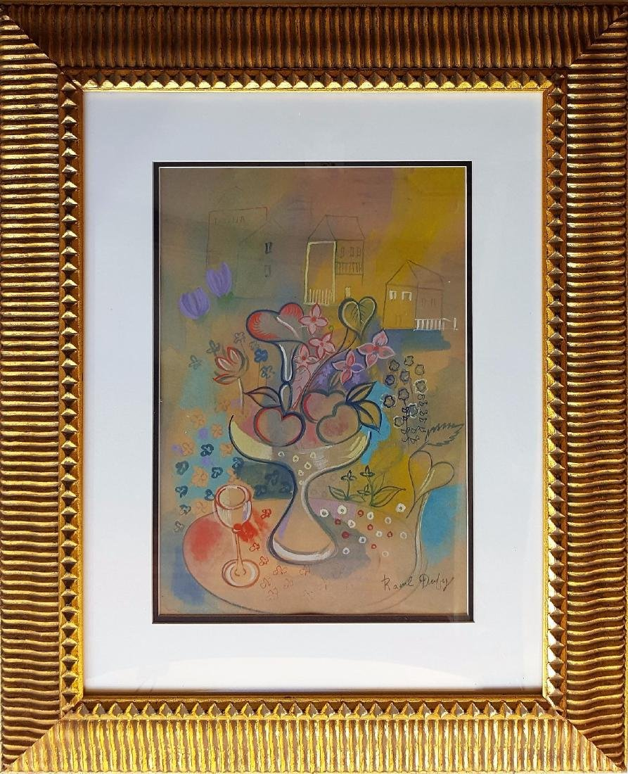 Raoul Dufy watercolor on paper signed painting
