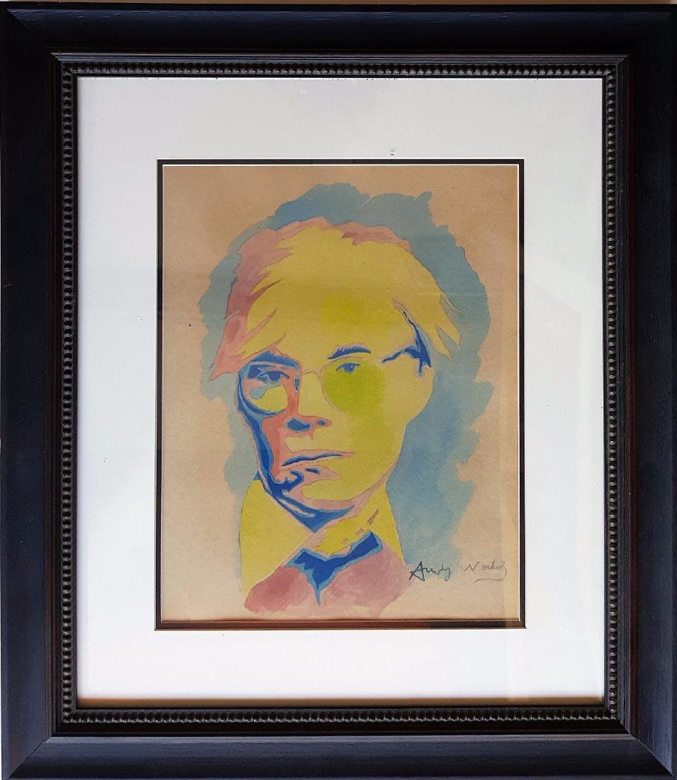 Andy WARHOL gouache on paper signed painting