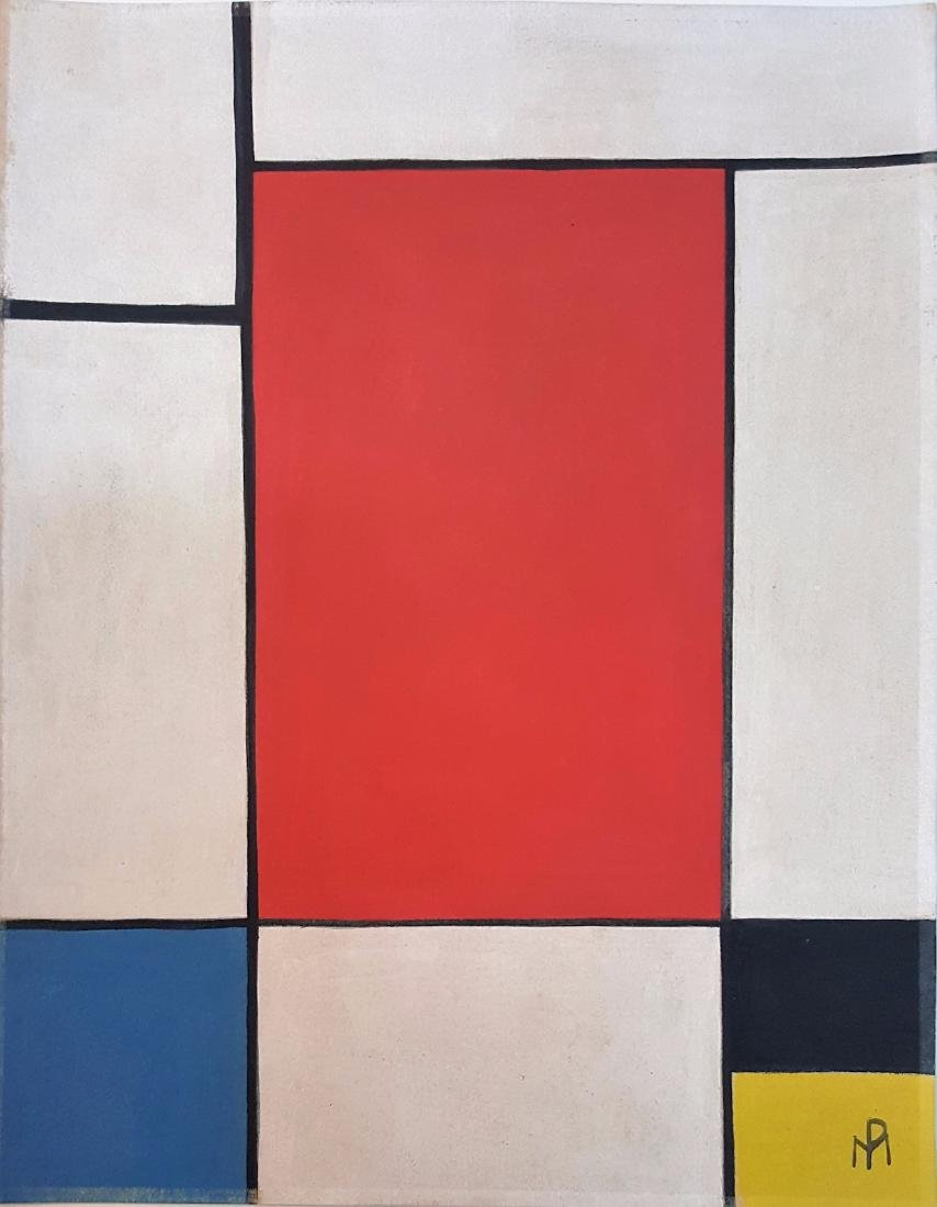 Piet Mondriaan gauche on paper, signed painting