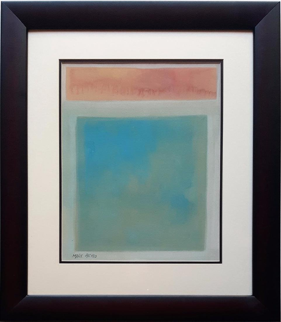 Mark ROTHKO watercolor on paper signed painting