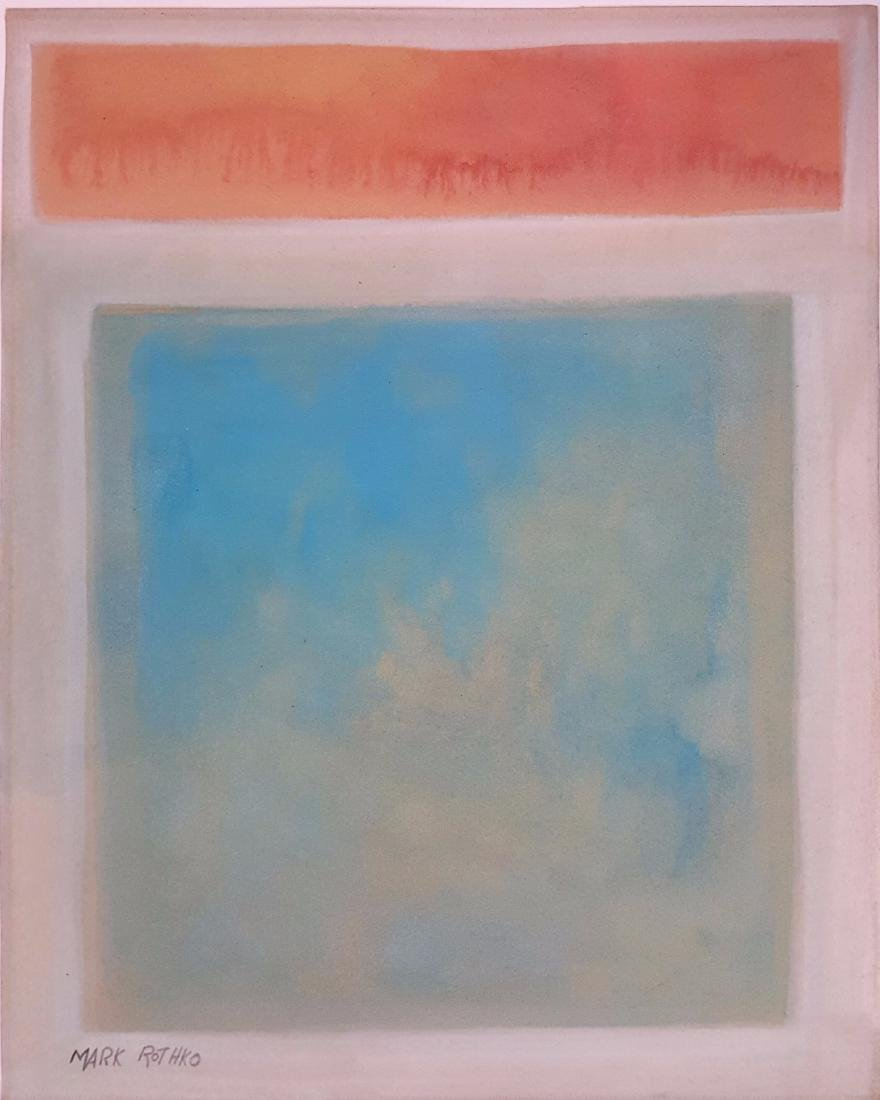 Mark ROTHKO watercolor on paper signed painting - 2