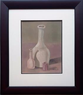 Giorgio Morandi gouache on paper signed painting