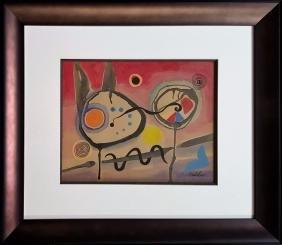 Style of Alexander Calder,  gouache on paper