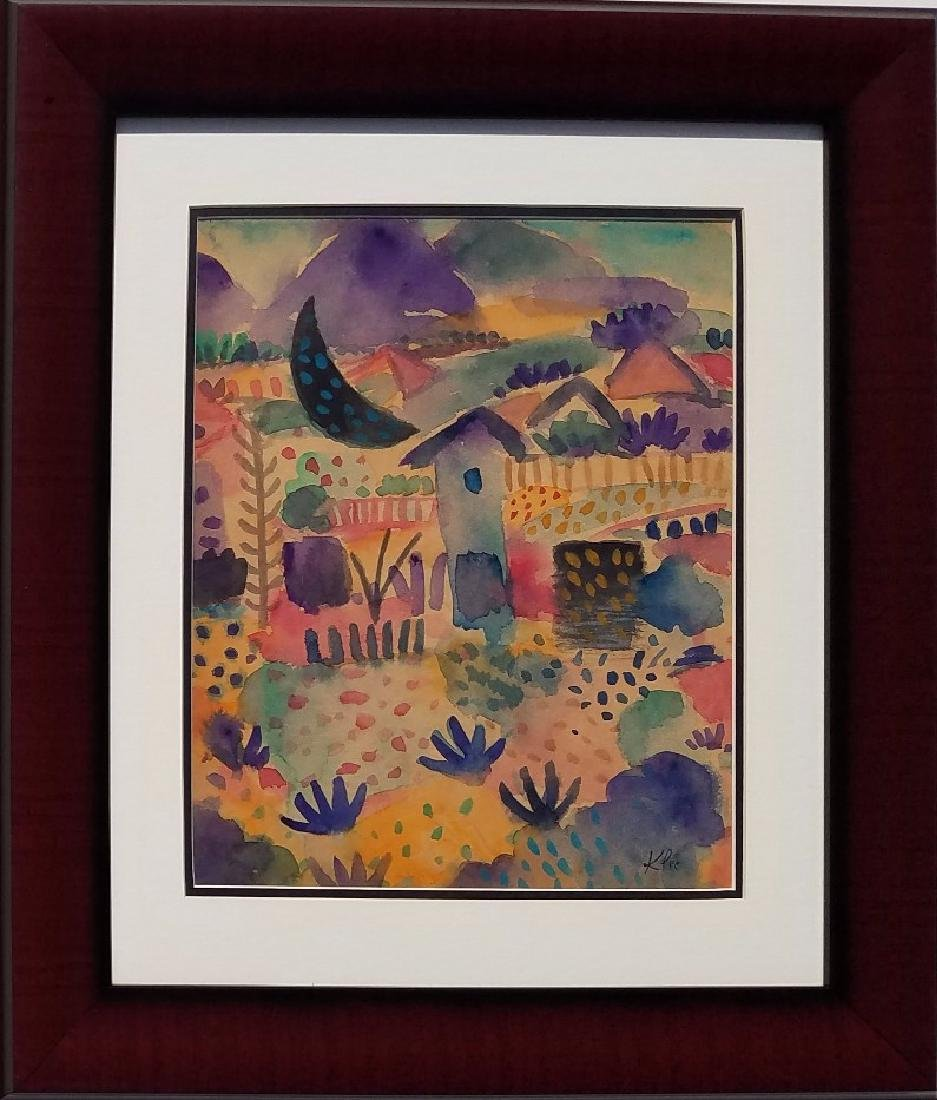 Paul Klee Watercolor on Paper signed painting