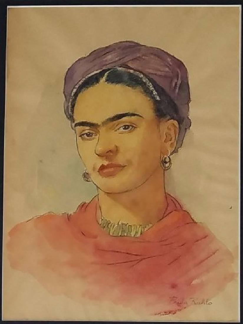 Frida Khalo  Watercolor on Paper - 2