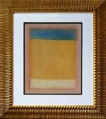 Signed Mark Rothko gouache on paper
