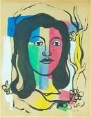 Signed Joseph Fernand Henri Léger, gouache and ink on