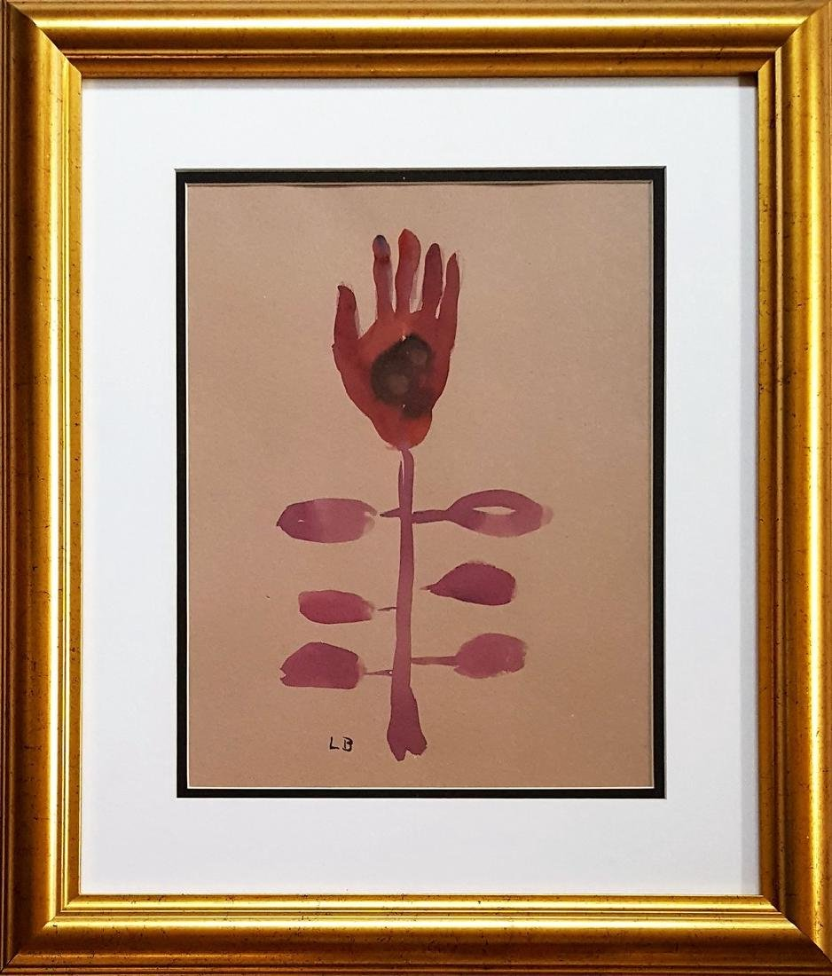 Louise Bourgeois gouache on paper