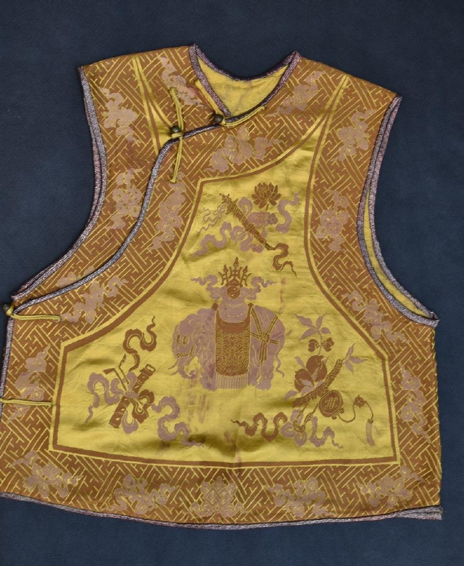 AN IMPERIAL YELLOW SATIN BROCADE JACKET