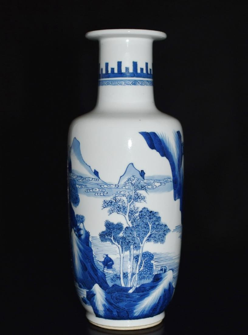 A BLUE AND WHITE VASE, CHENGHUA MARK
