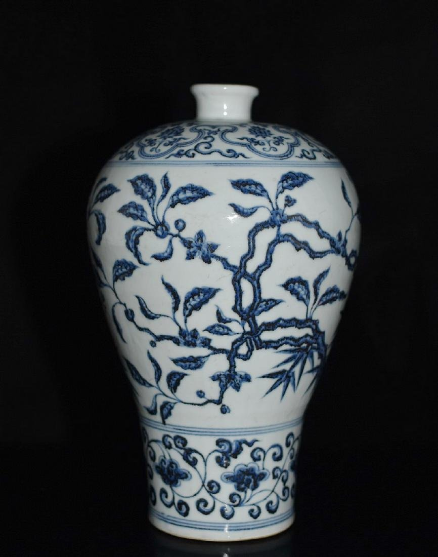 A BLUE AND WHITE MEIPING VASE, YONGLE MARK - 4