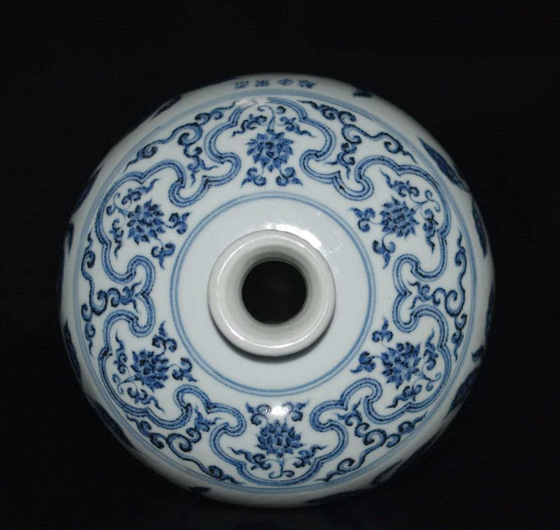 A BLUE AND WHITE MEIPING VASE, YONGLE MARK - 5