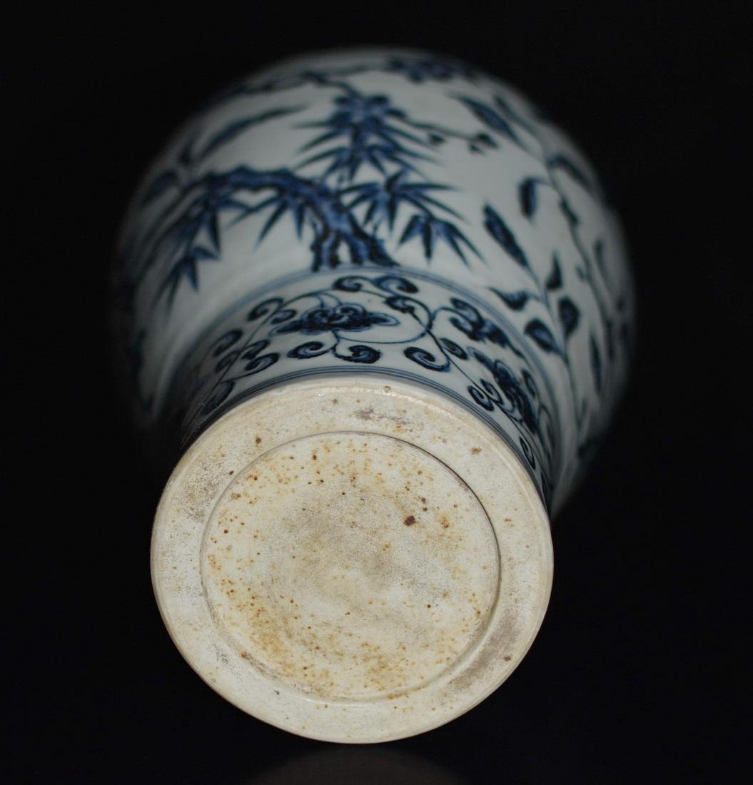 A BLUE AND WHITE MEIPING VASE, YONGLE MARK - 6