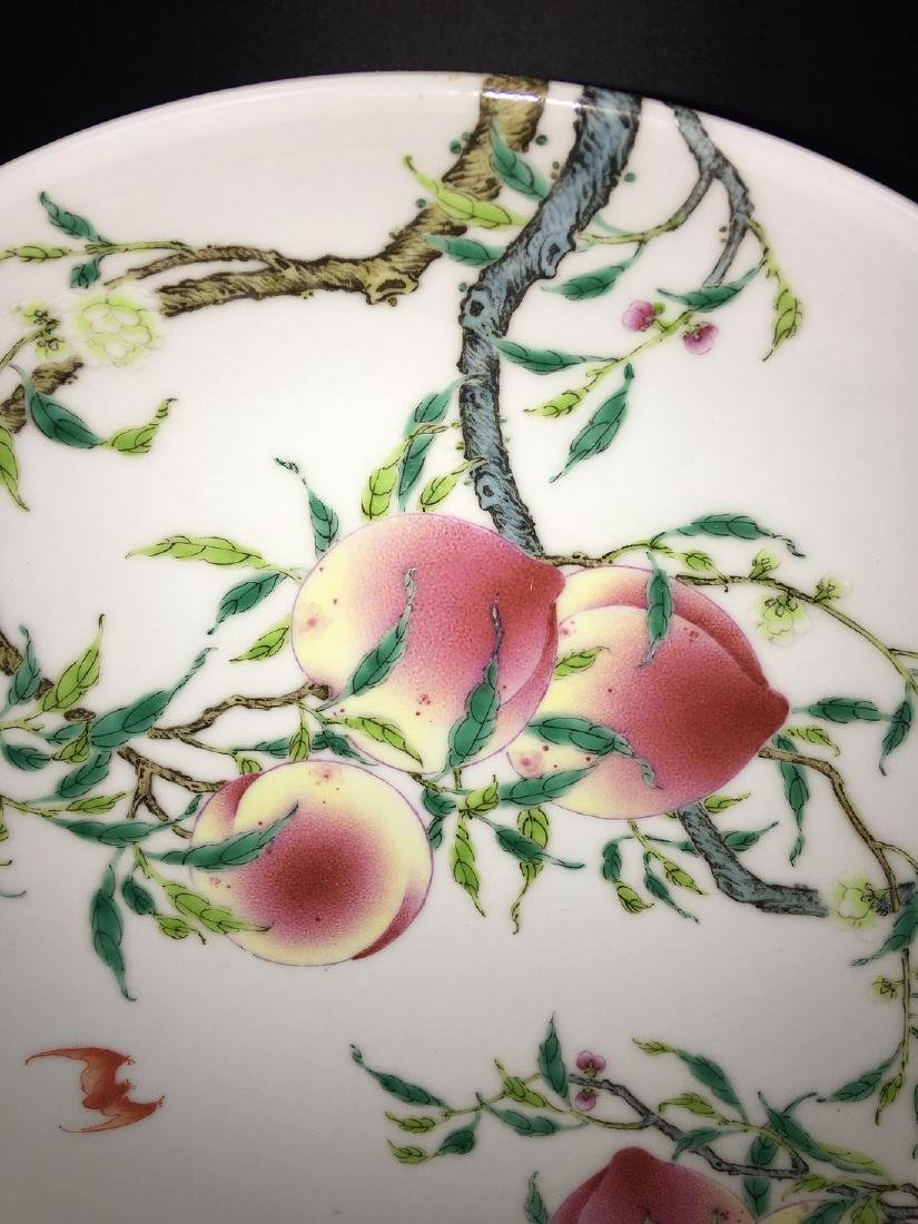 A FAMILLE ROSE 'PEACH' PLATE, YONGZHENG MARK - 3