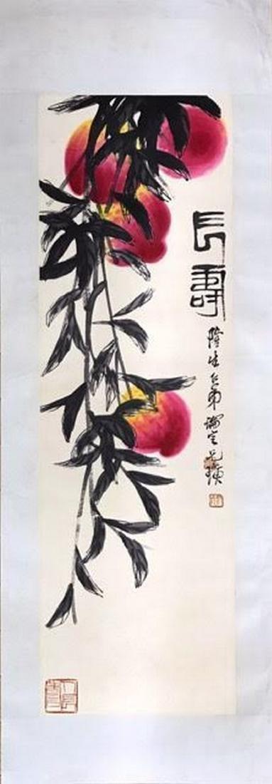 QI BAISHI 1864-1957, CHANG SHOU, HANGING SCROLL