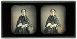 FRENCH STEREO DAGUERREOTYPE OF A WOMAN
