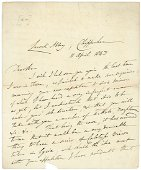 WILLIAM HENRY FOX TALBOT LETTER RE: CALOTYPES