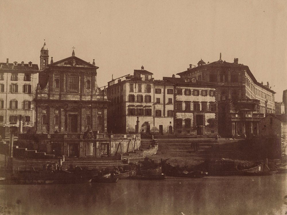 GIACOMO CANEVA, VIEW OF THE HARBOR OF RIPTETTA IN ROME