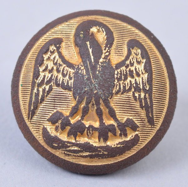 Excvtd. Two-Piece Louisiana State Seal 22mm Button
