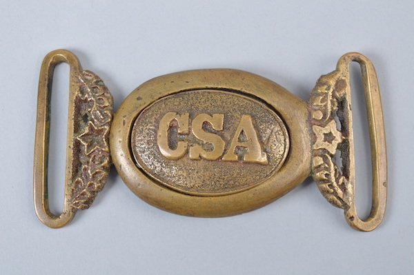 "Exceedingly Rare Non-Excvtd. ""CSA"" Officer's Belt Plate"