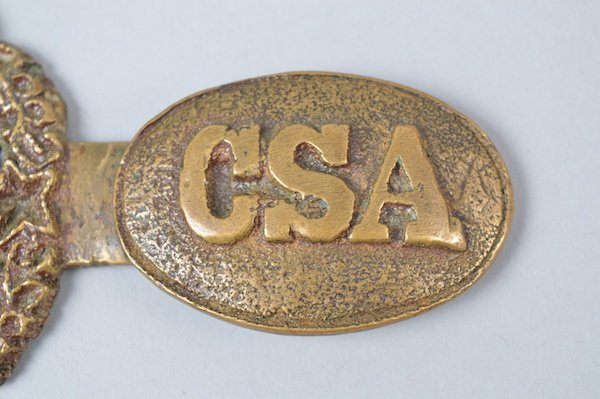"Exceedingly Rare Non-Excvtd. ""CSA"" Officer's Belt Plate - 8"
