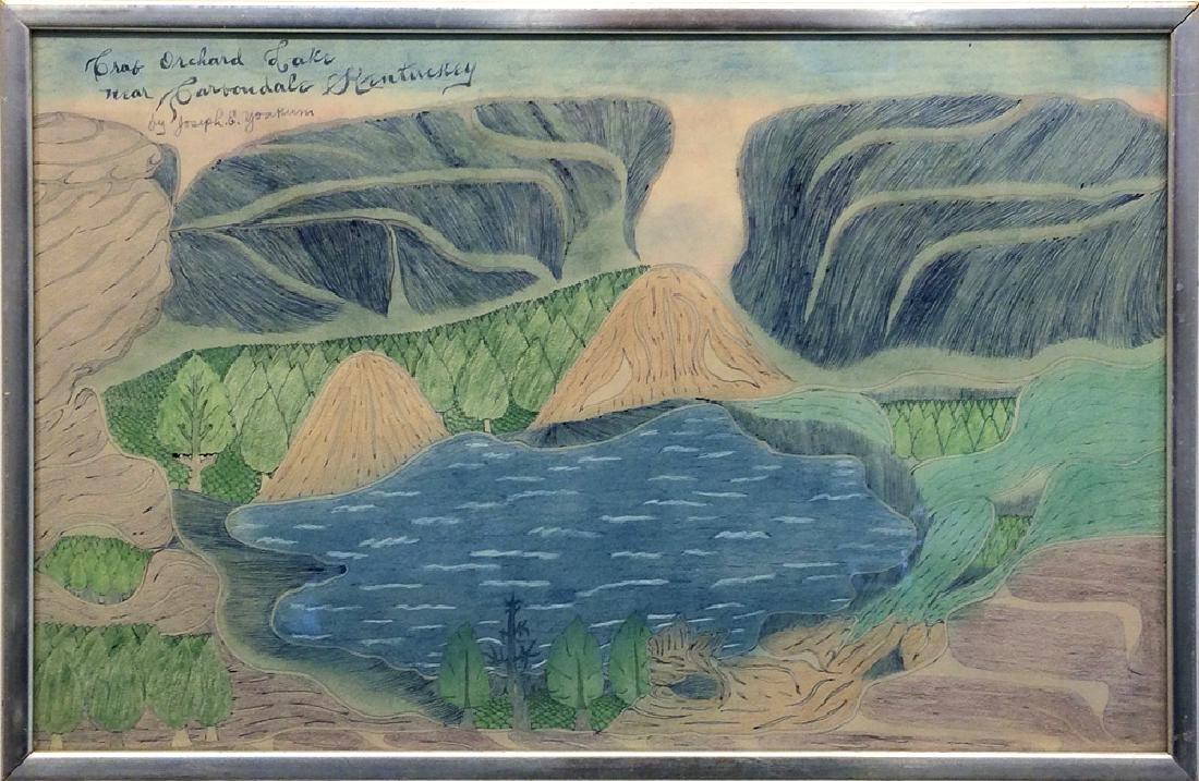 Joseph Yoakum (1886-1972) - Crab Orchard Lake near