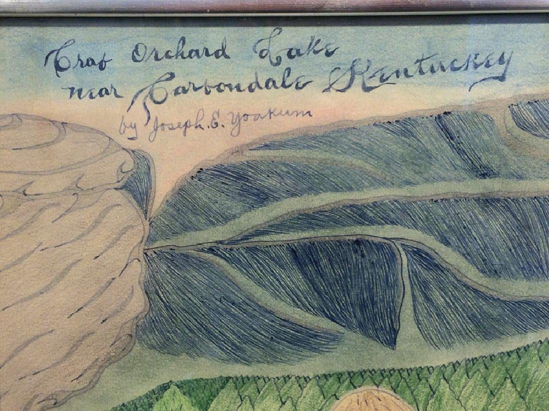Joseph Yoakum (1886-1972) - Crab Orchard Lake near - 2