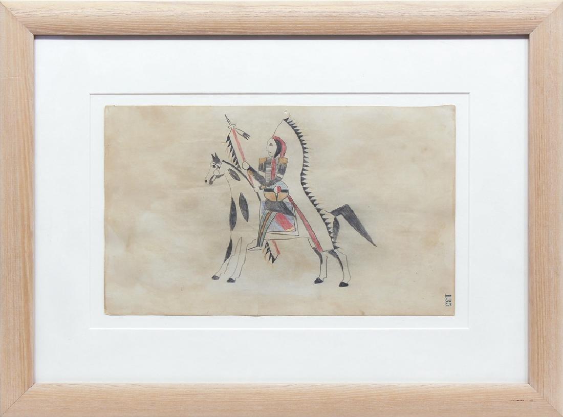 Unknown Artist - Horse with Warrior #135