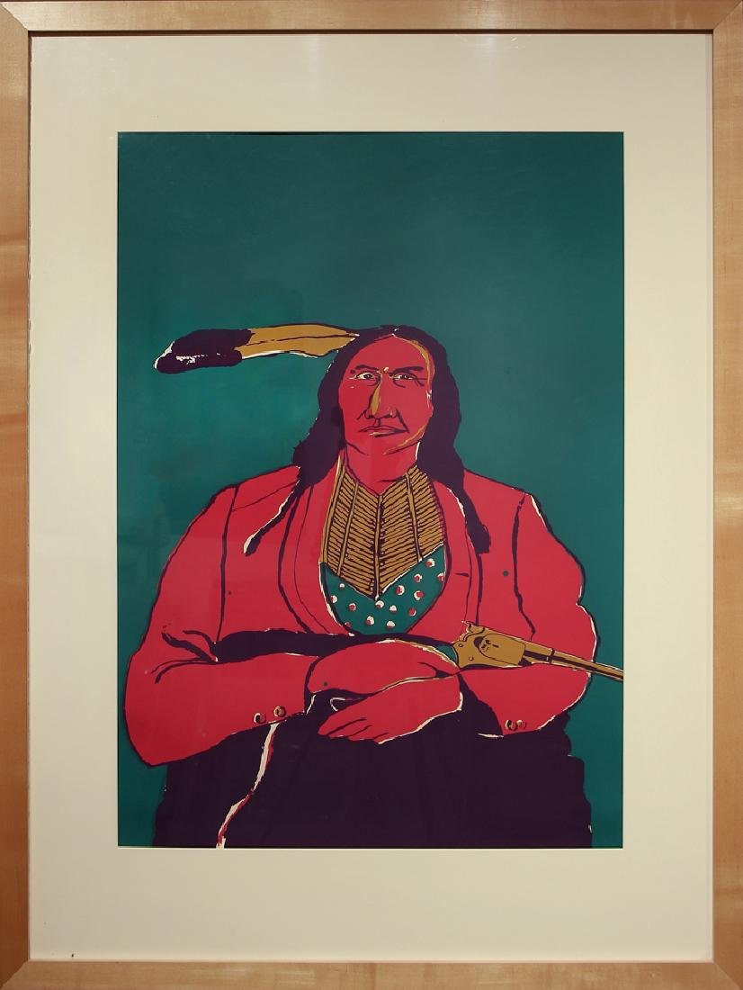 Fritz Scholder (1937-2005) - Untitled (Seated male