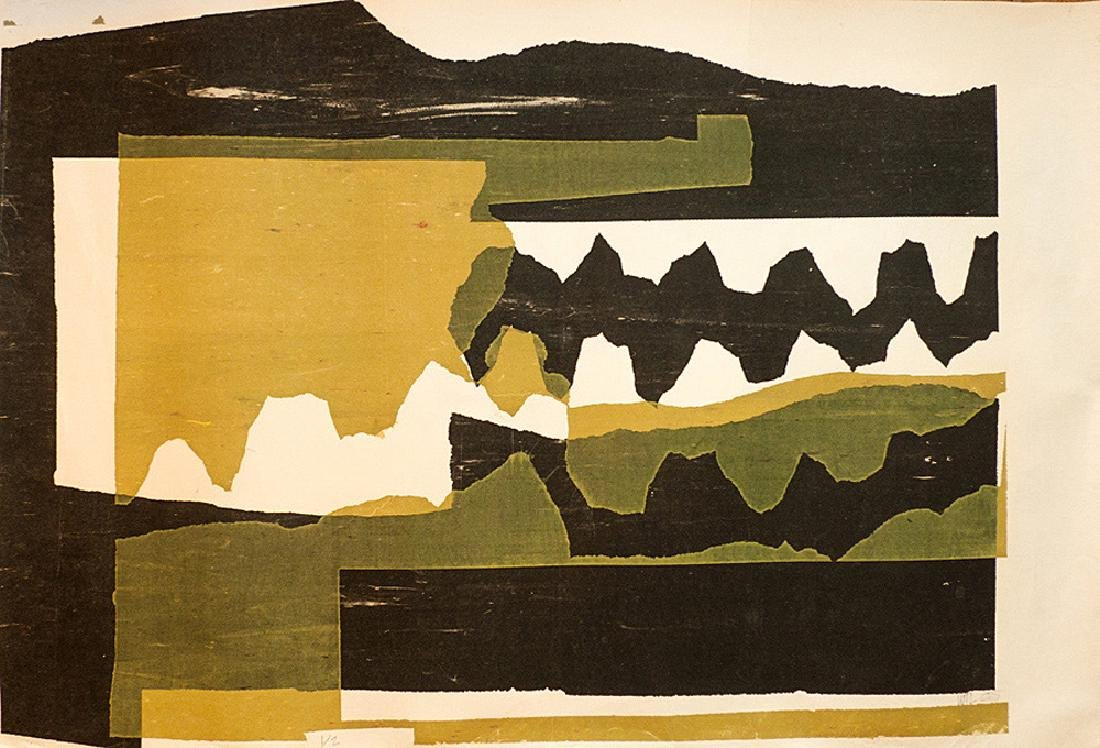 William Lumpkins (1909-2000) - Abstract Landscape #1