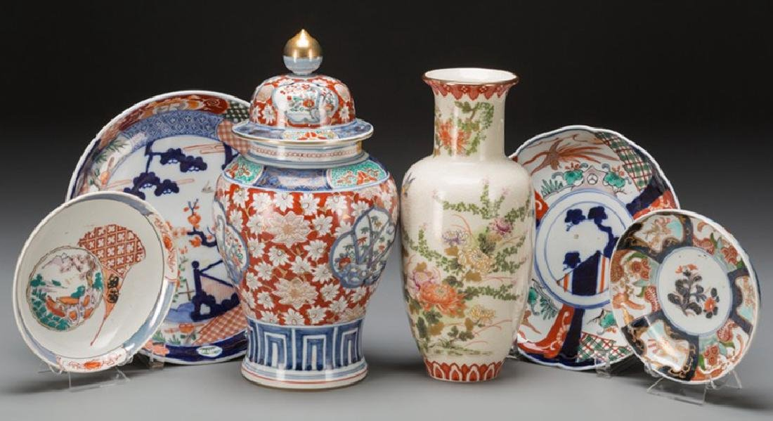 Japanese Imari and Shibata Porcelain,  20th century - A